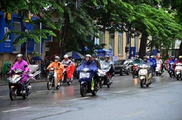 Nhiều vùng có mưa dông, Hà Nội có nơi mưa to đến rất to