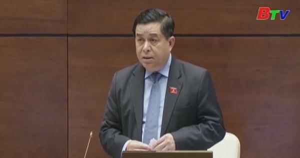 Quốc hội chất vấn Bộ trưởng Bộ Kế hoạch và đầu tư