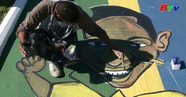 Brazil - Đường phố phủ đầy tranh cổ động World Cúp