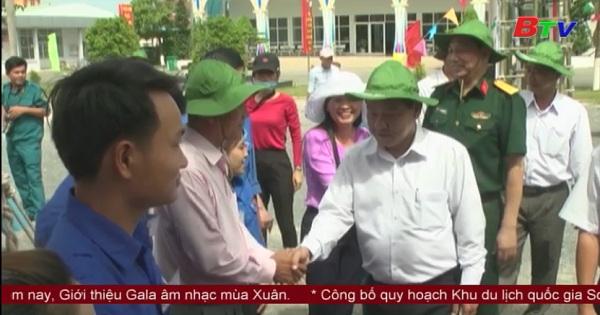 Kiểm tra công tác chuẩn bị giao quân tại thị xã Tân Uyên và huyện Bắc Tân Uyên