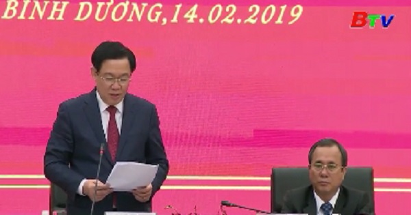 Phó Thủ tướng Vương Đình Huệ làm việc với tỉnh Bình Dương