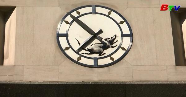 Banksy giới thiệu tác phẩm nghệ thuật đường phố mới