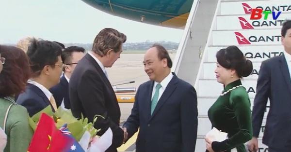 Thủ tướng đến thành phố Sydney dự hội nghị Asean - Australia