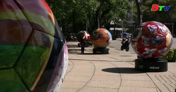 Mexico trưng bày bóng nghệ thuật mừng World Cup 2018