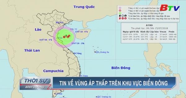 Tin về vùng áp thấp trên khu vực Biển Đông