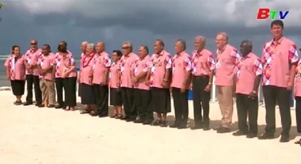 Lãnh đạo các đảo Thái Bình Dương đàm phán về mục tiêu ứng phó với biến đổi khí hậu