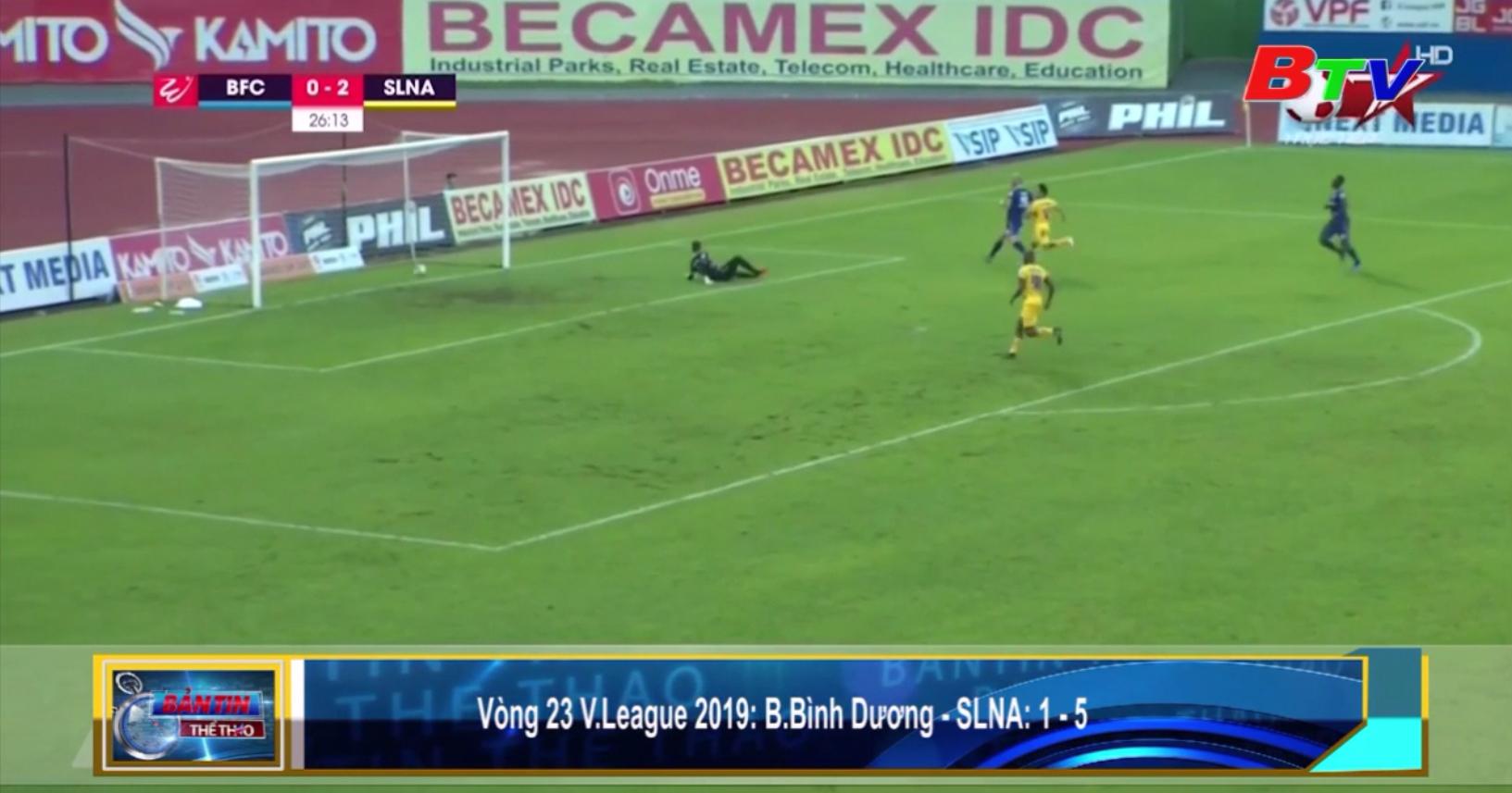 Vòng 23 V-League 2019 - Becamex Bình Dương thua đậm trên sân nhà