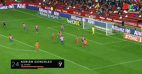 Vòng 18 La Liga: Sporting Gijon 2-3 Eibar