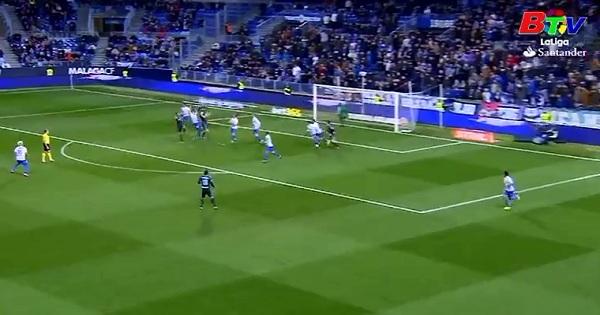 Vòng 18 La Liga - Malaga 0-2 Real Sociedad