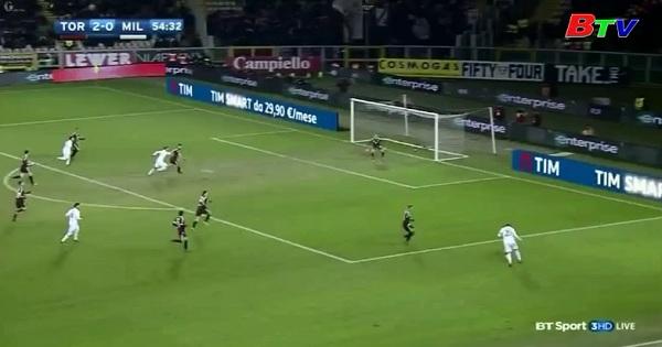 Vòng 20 Serie A-Torino 2-2 AC Milan