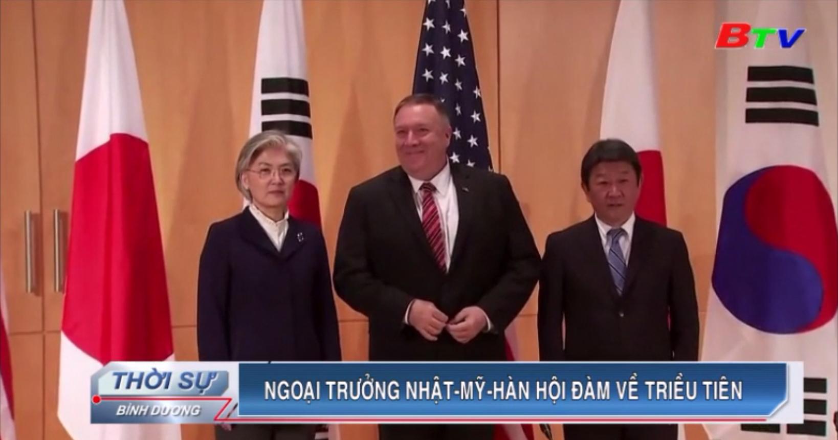 Ngoại trưởng Nhật - Mỹ - Hàn hội đàm về Triều Tiên