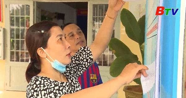 Phú Giáo phòng chông dịch COVID-19 ngày bầu cử