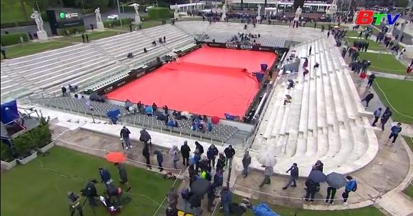 Hoãn các trận đấu ở Giải quần vợt Italia mở rộng  2019 vì mưa