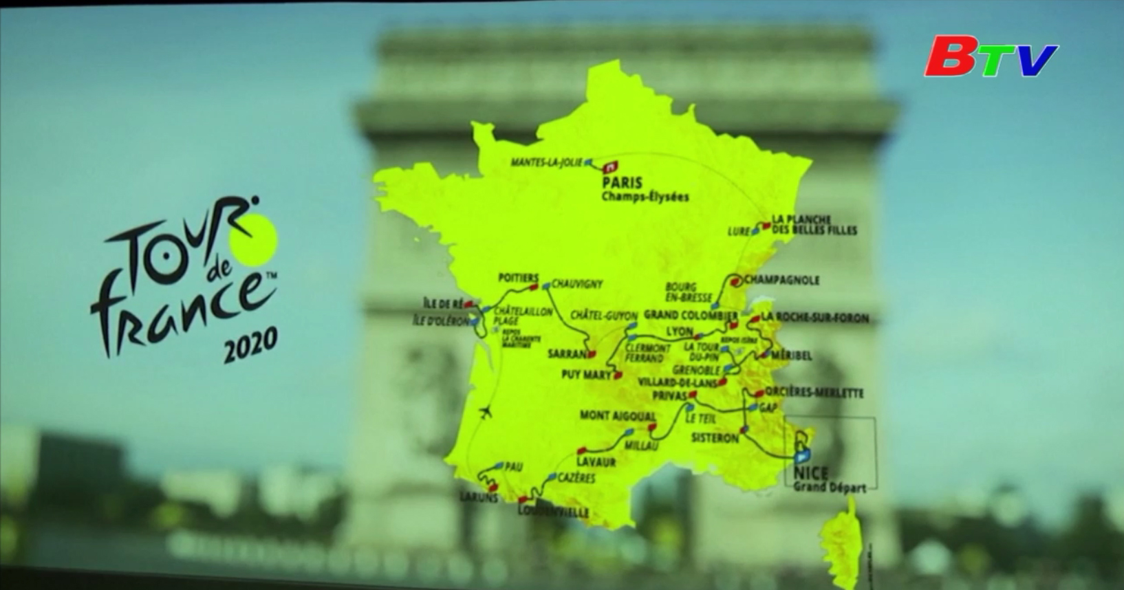 Công bố lộ trình Tour de France 2020