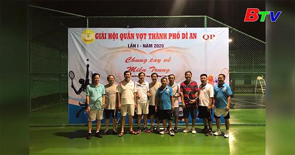 Phong trào tennis tại thành phố Dĩ An, tỉnh Bình Dương