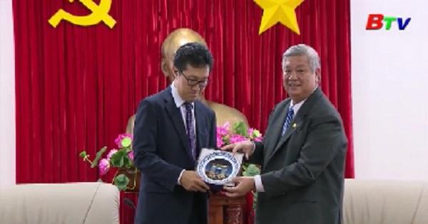 Lãnh đạo tỉnh Bình Dương tiếp và làm việc với đoàn lãnh đạo công ty NTT Việt Nam
