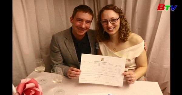 Cặp đôi đầu tiên kết hôn tại vùng lãnh thổ Nam cực thuộc Anh