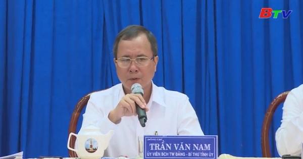 Lãnh đạo tỉnh ủy làm việc với huyện Dầu Tiếng