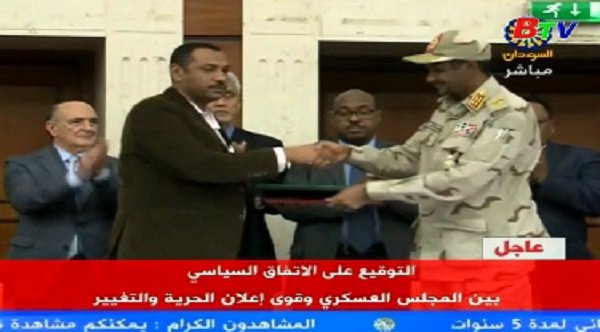 Các bên tại Sudan ký thỏa thuận chia sẻ quyền lực