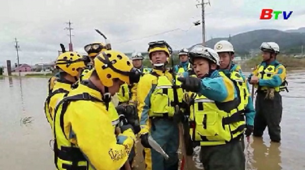Ngập lụt hoành hành tại đảo Honshu do siêu bão Hagibis