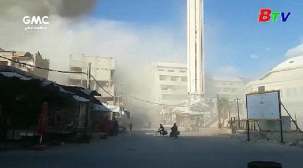Quân đội Syria đẩy mạnh tấn công phiến quân tại Damascus