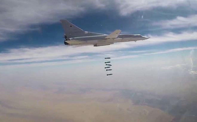 Máy bay Nga tấn công IS tại Syria