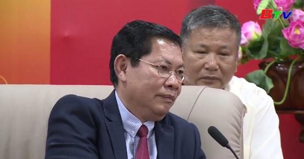Đoàn lãnh đạo tỉnh Kratie, Vương quốc Campuchia thăm, chúc Tết lãnh đạo tỉnh Bình Dương