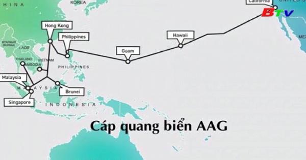 Hoàn thành sửa chữa cáp biển AAG