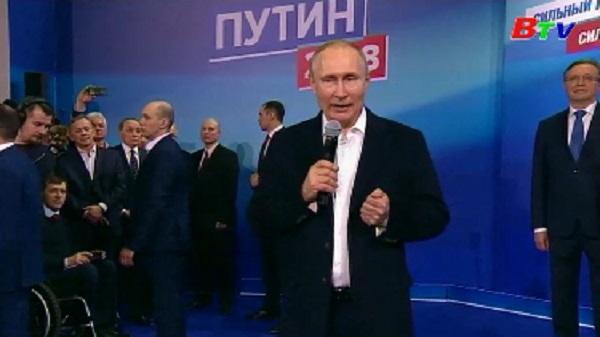 Ông Putin tái đắc cử Tổng thống Nga với chiến thắng áp đảo