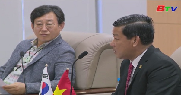 Lãnh đạo UBND tỉnh Bình Dương tiếp đoàn đại biểu Hội đồng Thánh phố DEAJEON - Hàn Quóc