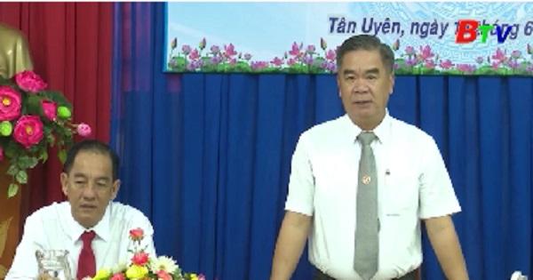 Lãnh đạo thị xã Tân Uyên chúc mừng Ngày Báo chí cách mạng Việt Nam