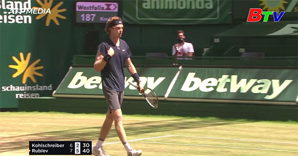 Kết quả vòng tứ kết Giải Quần vợt Halle Open 2021
