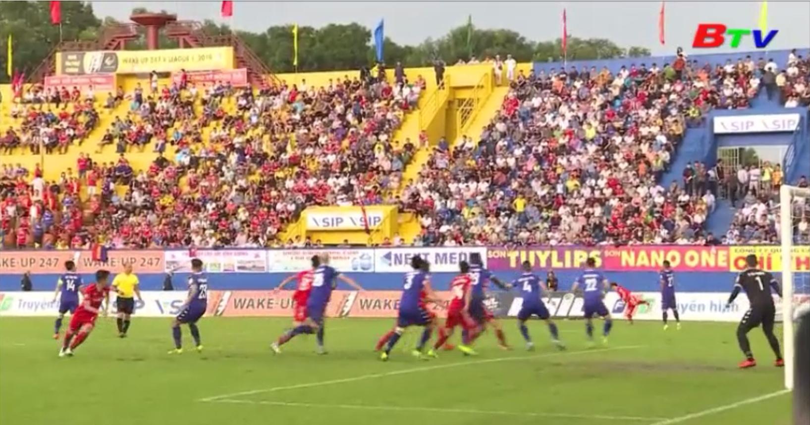 B.Bình Dương thắng Hoàng Anh Gia Lai 3 - 0, Vòng 21 V.League 2019