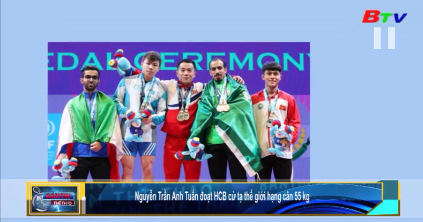 Nguyễn Trần Anh Tuấn đoạt huy chương bạc cử tạ thế giới hạng cân 55kg