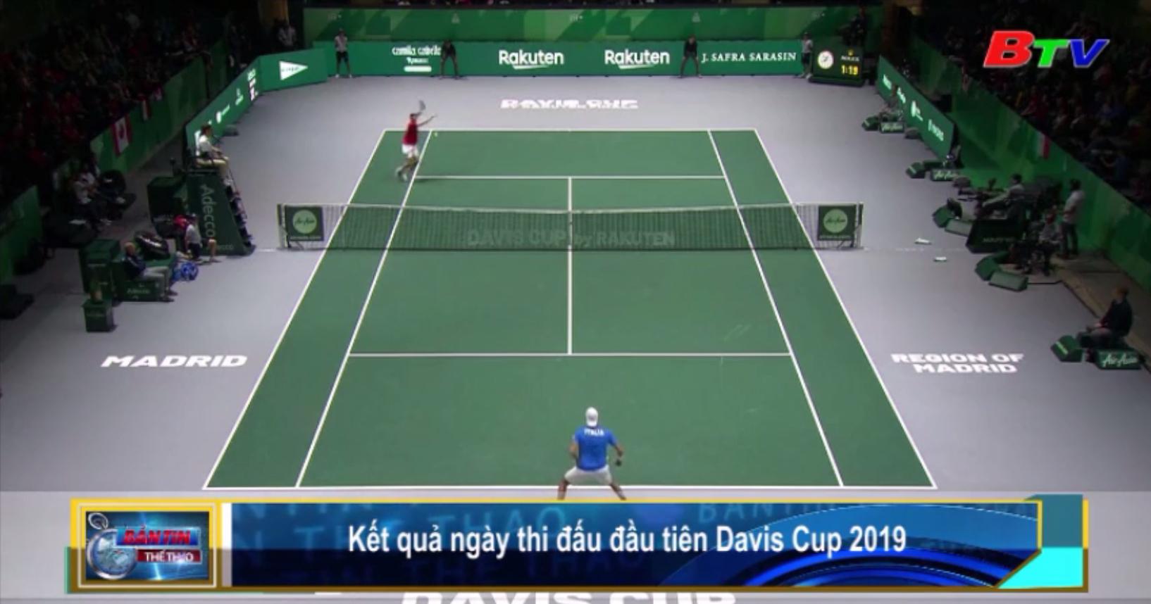 Kết quả ngày thi đấu đầu tiên Davis Cup 2019
