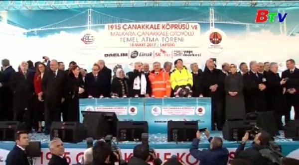 Thổ Nhĩ Kỳ khởi công cây cầu treo có nhịp dài nhất thế giới