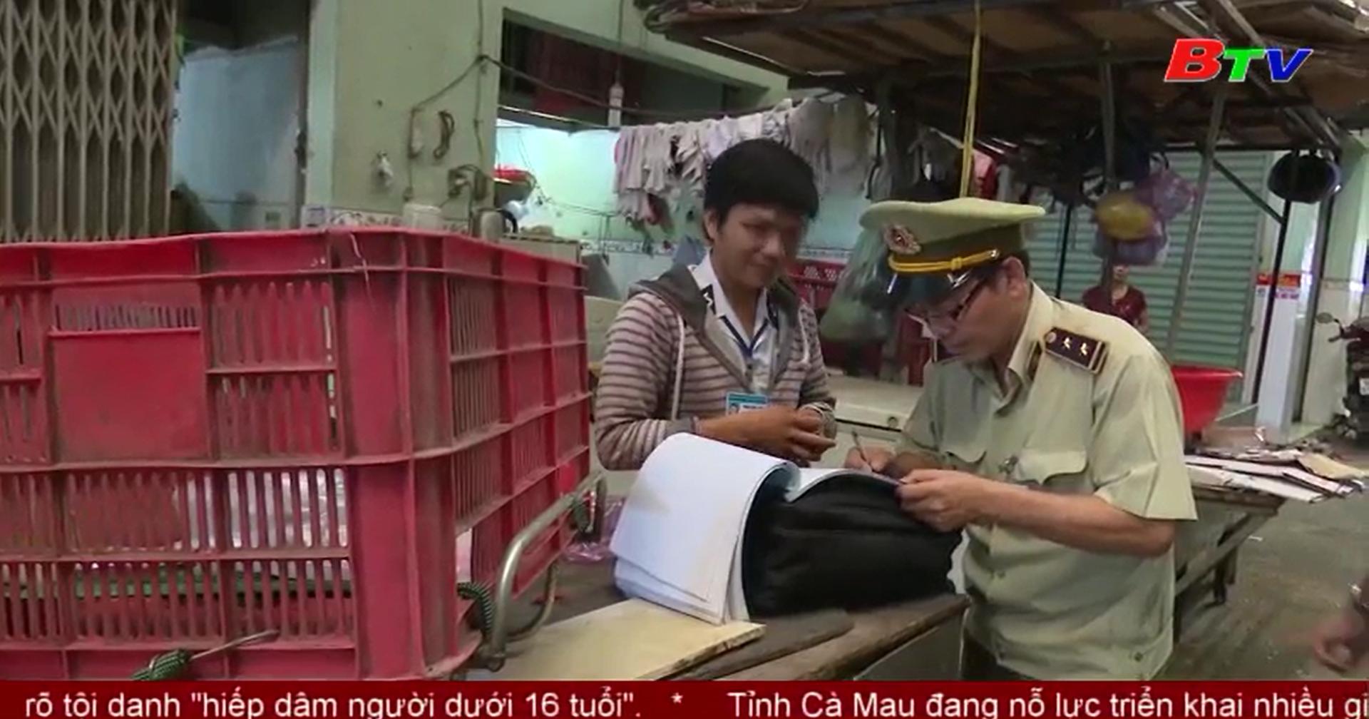 Thị xã Thuận An bắt giữ và tịch thu gần 700kg thịt heo nghi bị bệnh và không rõ nguồn gốc