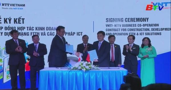 VNTT và VTT Việt Nam ký kết hợp đồng hợp tác kinh doanh xây dựng mạng FTTH và các giải pháp ICT