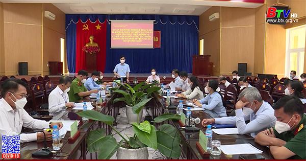 Kiểm tra nới lỏng giãn cách xã hội tại Phú Giáo