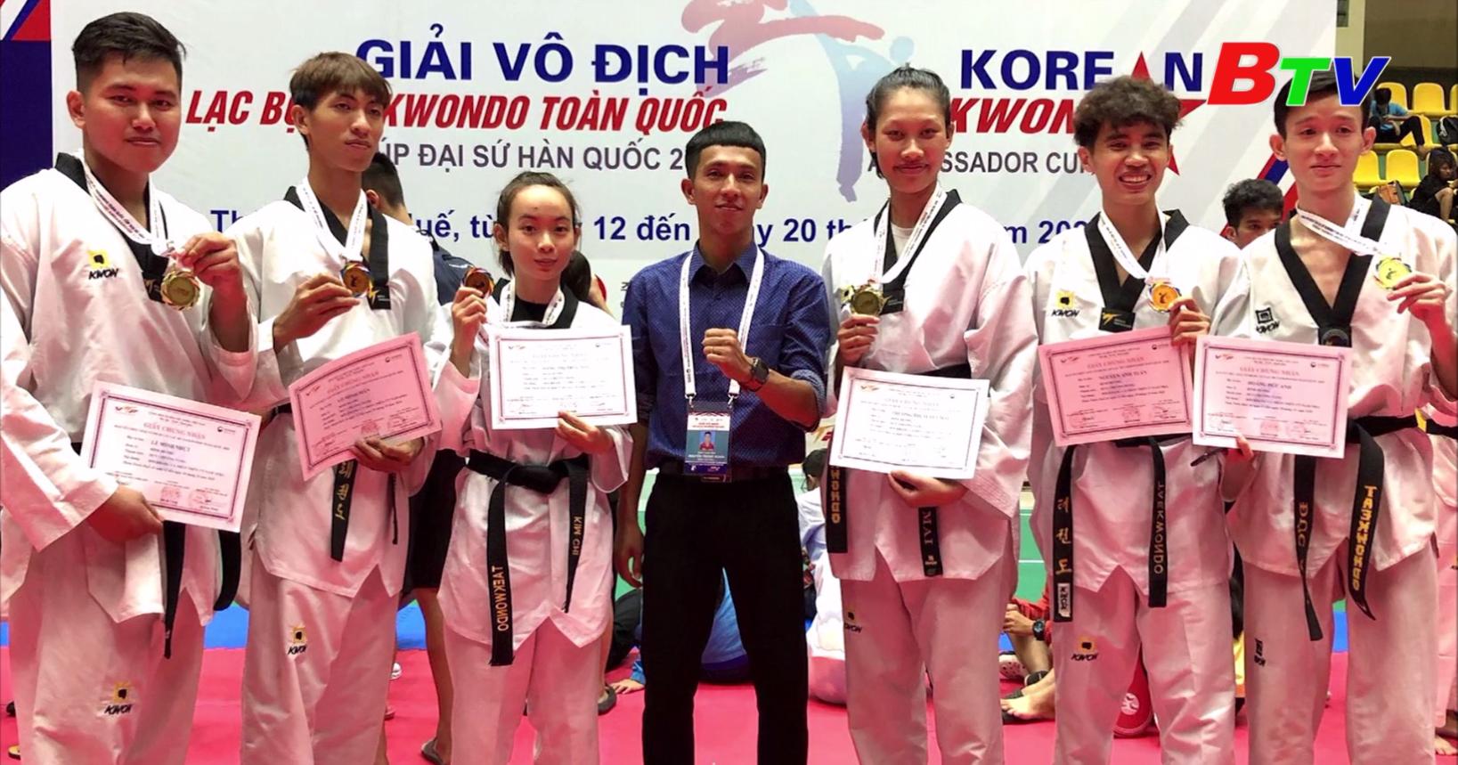 Bình Dương xếp vị trí thứ 6 toàn đoàn tại Giải vô địch CLB Taekwondo toàn quốc 2020
