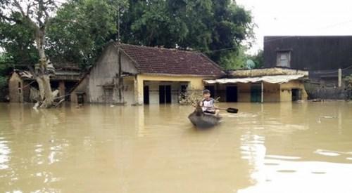 Xuất hiện đợt lũ lớn trên các sông từ Quảng Trị đến Bắc Phú Yên và Bắc Tây Nguyên