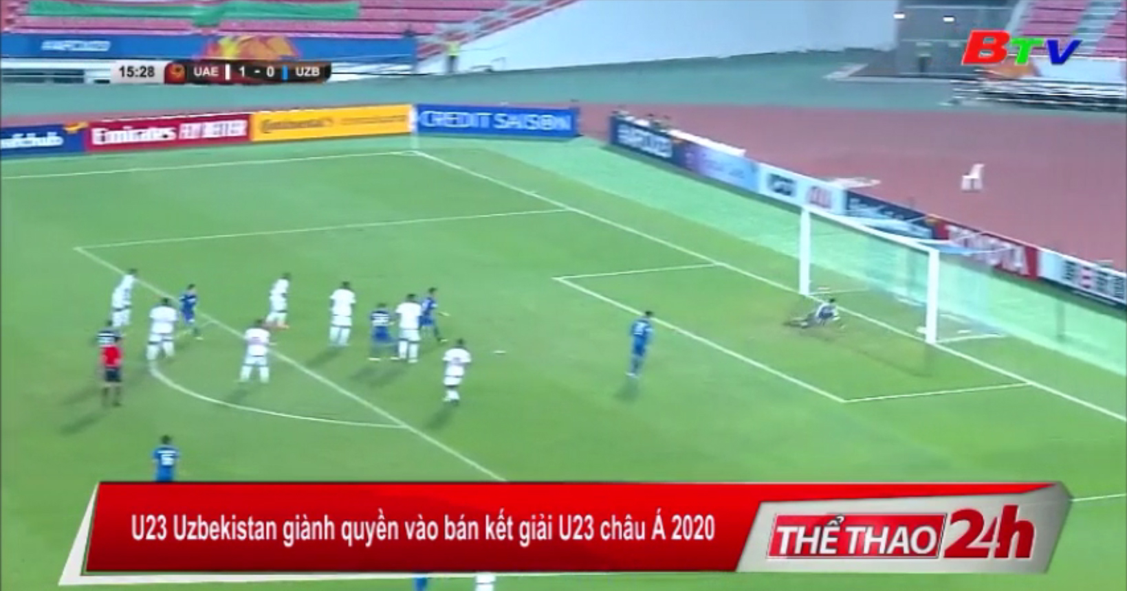 U23 Uzbekistan giành quyền vào bán kết giải U23 châu Á 2020
