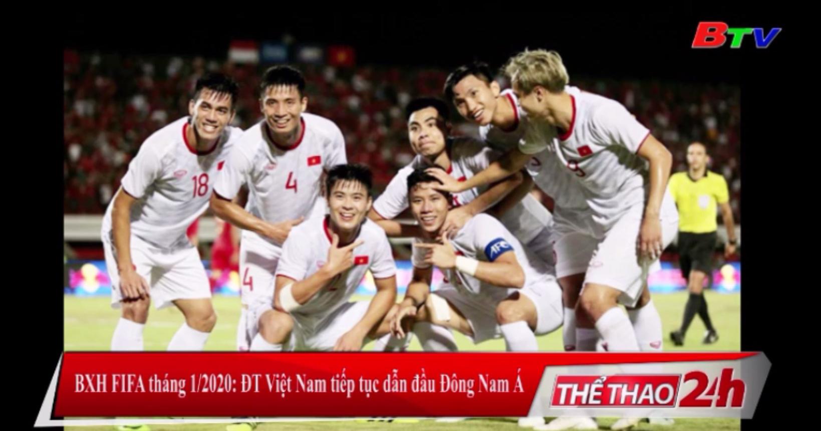 BXH FIFA tháng 1/2020 - ĐT Việt Nam tiếp tục dẫn đầu Đông Nam Á