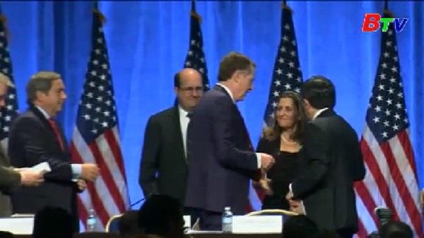 Kết thúc vòng 1 tái đàm phán NAFTA
