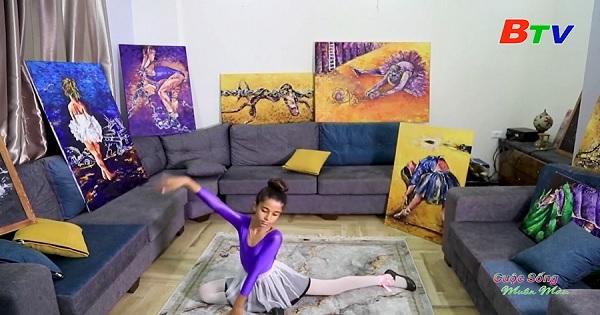 Họa sĩ Palestin vẽ hình tượng vũ công Ballet để phản ánh hiện thực ở dải Gaza
