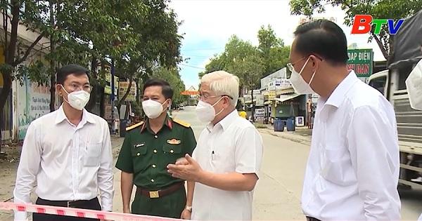 Lãnh đạo Tỉnh kiểm tra công tác dập dịch tại khu phố 6 phường Thới Hòa