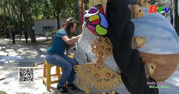Mexico – Những chiếc đầu lâu lấy cảm hứng từ họa sĩ Frida Kahlo