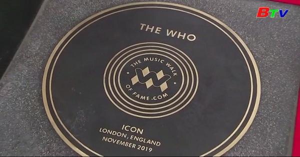 Ban nhạc The Who là nghệ sĩ đầu tiên được vinh danh tại Đại lộ Danh vọng âm nhạc LonDon mới khai trương