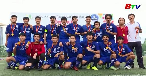 Thị xã Bến Cát đoạt 4 bộ HCV môn bóng đá Giải thể thao học sinh tỉnh Bình Dương năm 2018