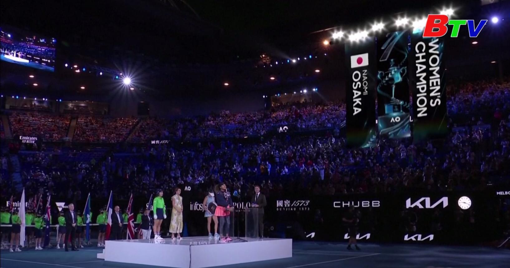 Naomi Osaka giành chức vô địch đơn nữ Giải Australia mở rộng